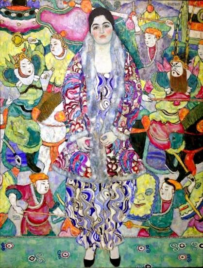 Friederike Maria Beer by Gustav Klimt
