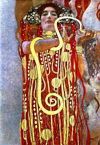 Hygieia by Gustav Klimt