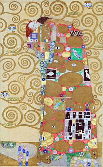 The Lovers (Stoclet House) by Gustav Klimt