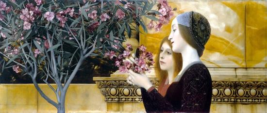 Two Girls With Oleander by Gustav Klimt