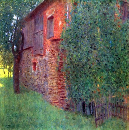 Farmhouse in Kammer Am Attersee 1901 by Gustav Klimt
