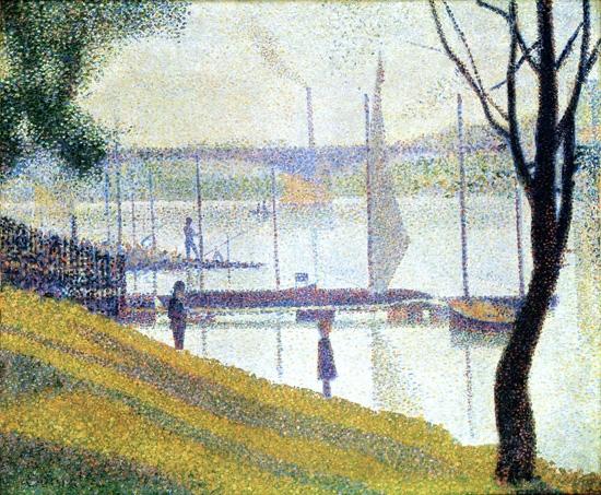 Bridge Of Courbevoie by ジョルジュ·スーラ