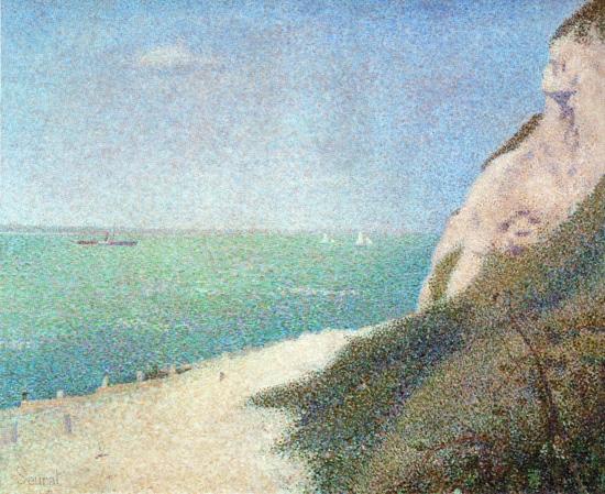 The Beach Le Bas Butin At Honfleur by ジョルジュ·スーラ