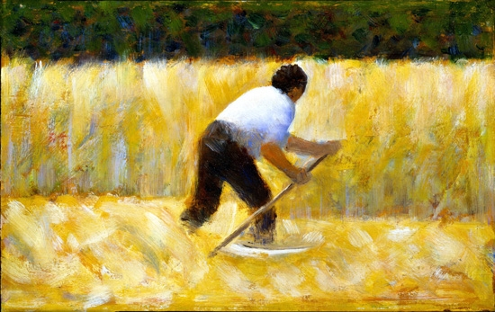 The Mower by Georges Seurat