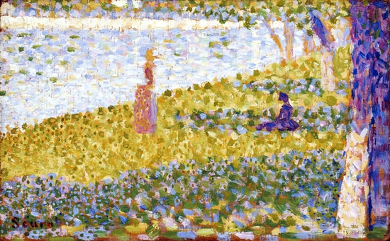 Women On The River Bank by Georges Seurat