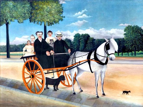 Old-Junier's-Cart-(1908) by Henri Rousseau