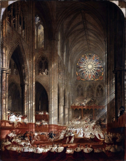 Coronation of Queen Victoria by John Martin