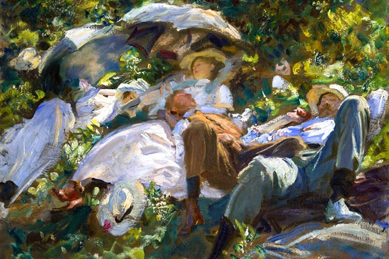 Group With Parasols (a Siesta) by John Singer Sargent