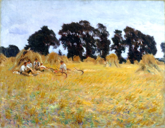 Reapers Resting In a Wheat Field 1885 by John Singer Sargent