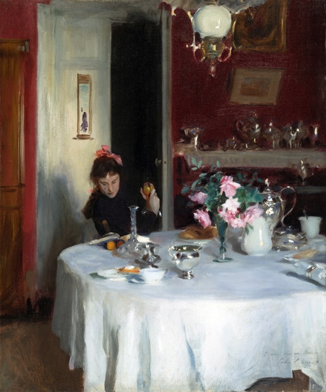 The Breakfast Table 1883-1884 by John Singer Sargent