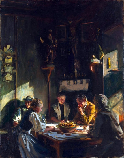 Tyrolese Interior 1915 by John Singer Sargent