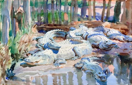 Muddy alligators 1917 by ジョン·シンガー·サージェント