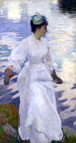 Lady Fishing-Mrs Ormond 1889 by John Singer Sargent