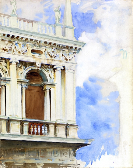 The Library In Venice by John Singer Sargent