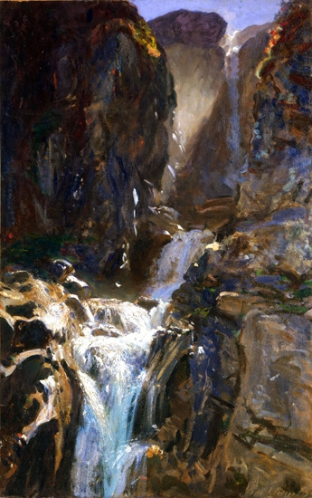 A Waterfall by John Singer Sargent