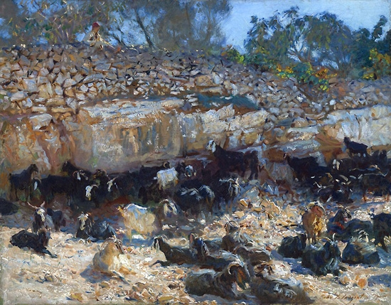 Syrian Goats 1905 by John Singer Sargent