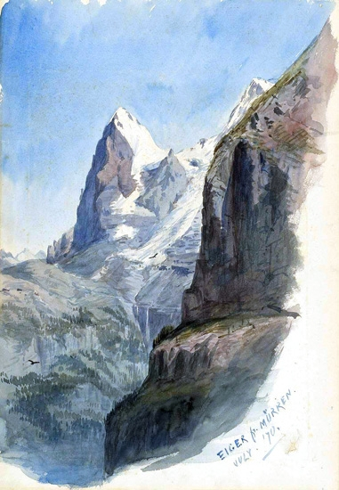 The Eiger From Mürren 1870 by John Singer Sargent