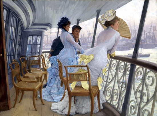 The Gallery of HMS Calcutta (Portsmouth) by James Tissot