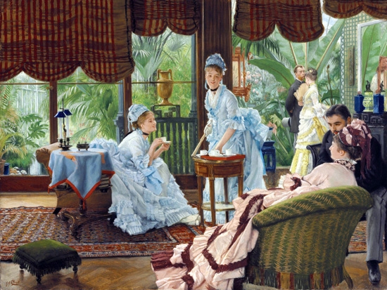 In the Conservatory (Rivals) by James Tissot