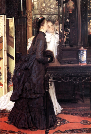 Young Ladies Looking at Japanese Objects by James Tissot