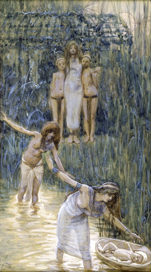 Pharaoh's Daughter Has Moses Brought to Her by James Tissot