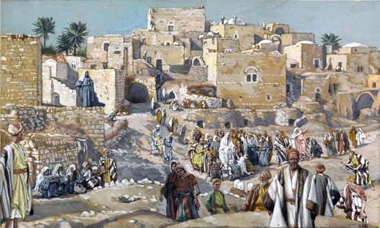 He Went Through the Villages on the Way to Jerusalem by James Tissot