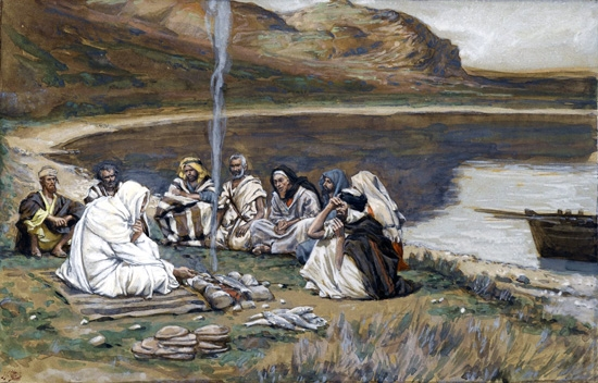 Meal of Our Lord and the Apostles by James Tissot