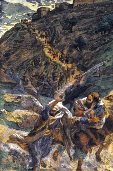 The Flight of the Apostles by James Tissot