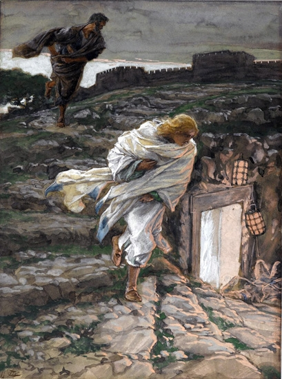 Saint Peter and Saint John Run to the Sepulchre by James Tissot