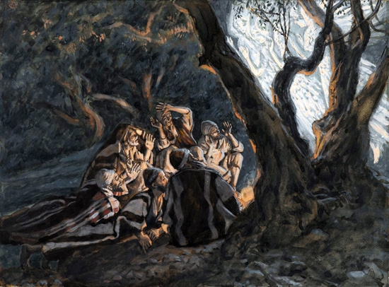 The angel and the Shepherds by James Tissot
