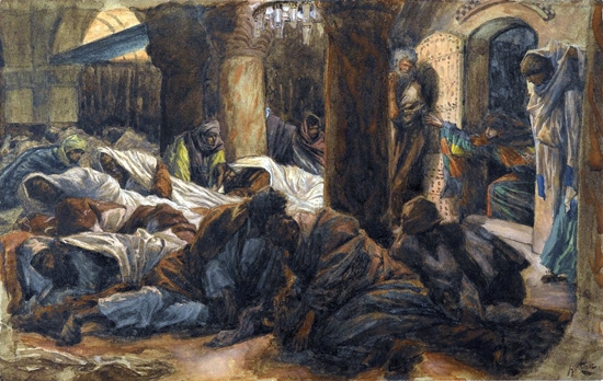 The Magdalene Runs to the Cenacle to Tell the Apostles that the Body of Jesus Is No Longer in the tomb by James Tissot