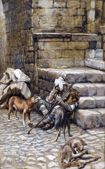 The Poor Lazarus at the Rich Man's Door by James Tissot