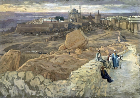 The Citadel at Cairo Seen From the Mokattam by James Tissot