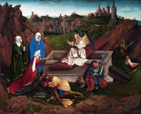 The Three Marys at the Tomb by Jan Van Eyck