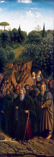 11. The Ghent Altarpiece Pilgrims by Jan Van Eyck