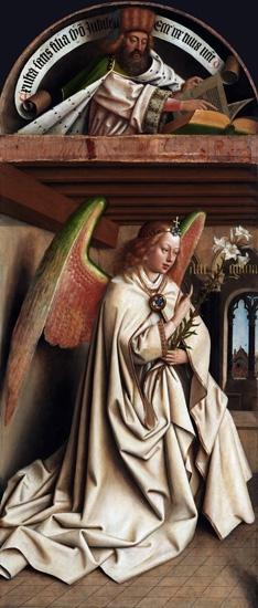 13. The Ghent Altarpiece closed Arcangel Annunciate by Jan Van Eyck