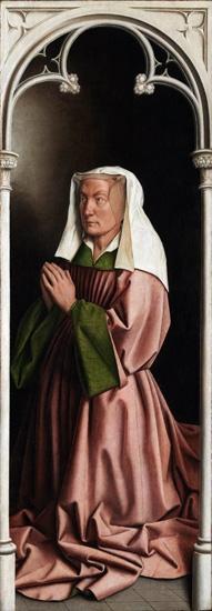 20. The Ghent Altarpiece closed Elizabeth Boorlut by Jan Van Eyck