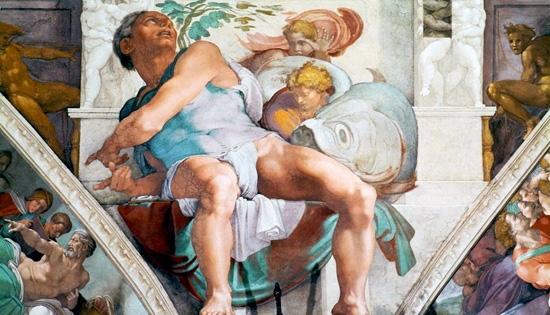 Jonah by Michelangelo Buonarroti