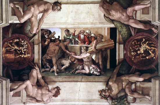 Sacrifice of Noah by Michelangelo Buonarroti