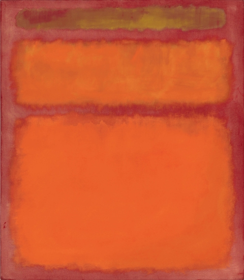 Orange, Red, Yellow by Mark Rothko (Inspired by)