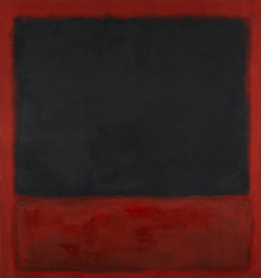 Untitled (Black, Red Over Black, On Red) by Mark Rothko (Inspired by)