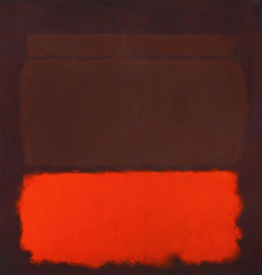 No. 6 Sienna, Orange On Wine, 1962 by Mark Rothko (Inspired by)