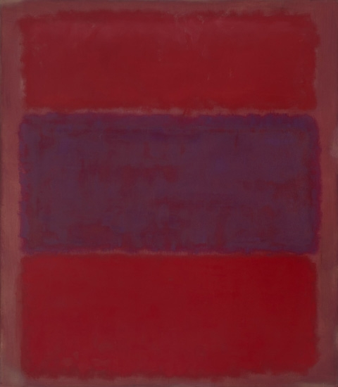 No. 301 Red And Blue Over Red by Mark Rothko (Inspired by)