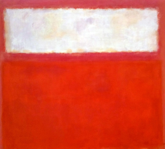Untitled ( Pink And White Over Red), 1957 by Mark Rothko (Inspired by)