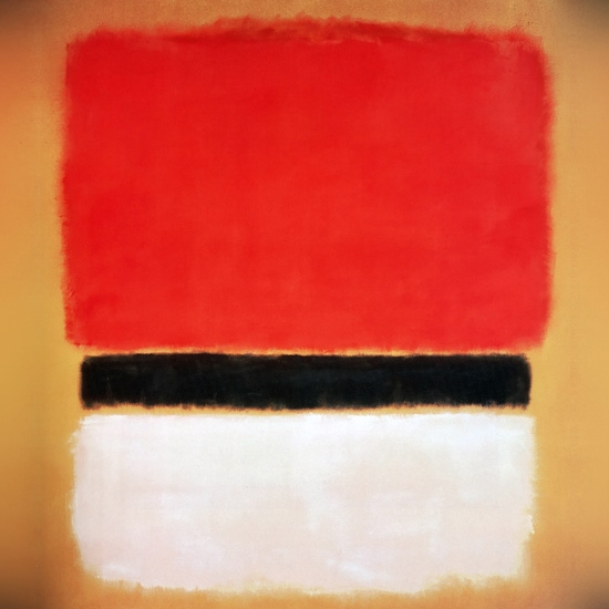 Untitled (Red, Black, White On Yellow) by マーク・ロスコ