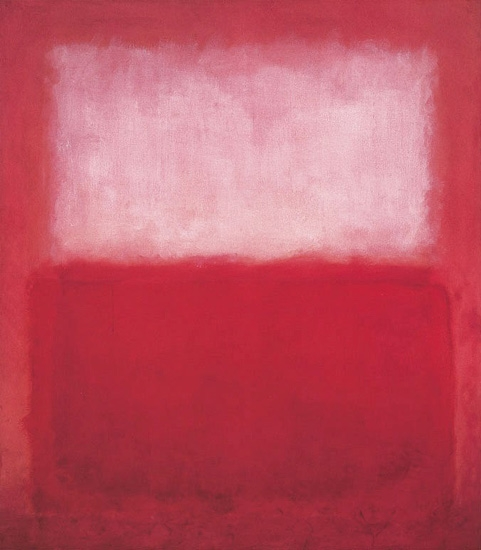 Untitled (White Over Red), 1957 by Mark Rothko (Inspired by)