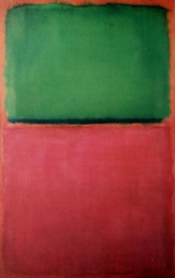 Untitled (Green, Red On Orange) - 1951 by Mark Rothko (Inspired by)