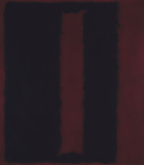 Black On Maroon by Mark Rothko (Inspired by)