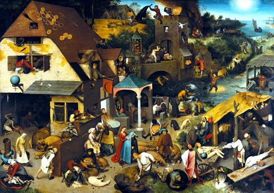 The Dutch Proverbs by Pieter Bruegel the elder
