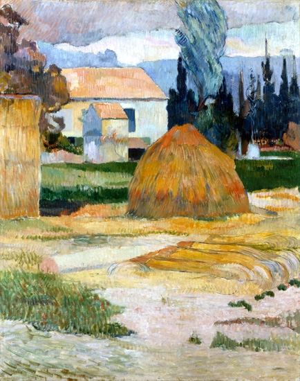 Landscape Near Arles by ポール·ゴーギャン